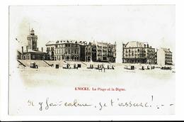 CPA - Carte Postale - Belgique -Knocke- La Plage Et La Digue 1900  VM3515 - Knokke