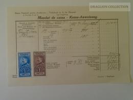 KA402.7 Romania Volksbank Neuarad - Aradul-Nou - Mandat De Cassa- Kassa Anweisung Arad - Felnac -stamp Ca 1929 - Facturas & Documentos Mercantiles