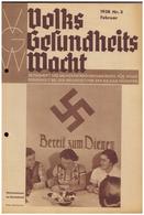 Dt- Reich (008123) Zeitschrift Volks- Gesundheits- Wacht, 1938 NR 3 Februar, Herausgeber Sachverständigenrat NSDAP - German