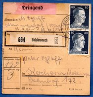 Colis Postal  -  Départ Goldkronach - Allemagne