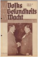 Dt- Reich (008124) Zeitschrift Volks- Gesundheits- Wacht, 1938 NR 4 Februar, Herausgeber Sachverständigenrat NSDAP - German