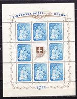 Slovacchia 1944 Foglietto Nuovo MNH** - Slovakia