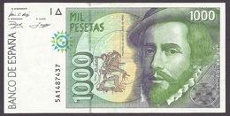 Spain 1992 - 1000 Mil Pesetas, Hernan Cortes, Francisco Pizarro, Circulated - Good Condition - [ 4] 1975-… : Juan Carlos I