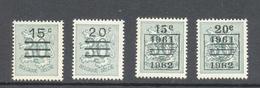 1172/73A Heraldieke Leeuw Opdruk En Preos POSTFRIS** 1960 - Neufs