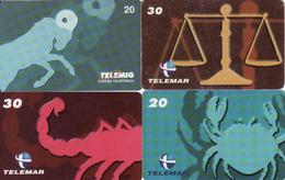 Horoscope - Zodiac, Brasil Telemar, 4 Pieces - Zodiaque