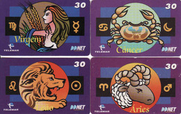 Horoscope - Zodiac, Brasil Telemar, 4 Pieces - Zodiaco