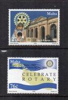 Malta - 2005 - Centenario Del Rotary Club Internazionale - 2 Valori - Nuovi - Vedi Foto - (FDC15868) - Malta