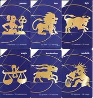 Horoscope - Zodiac, Poland, 6 Pieces - Zodiaque