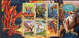 AUSTRALIA, 2011 MYTHICAL CREATURES MINISHEET MNH - Nuevos