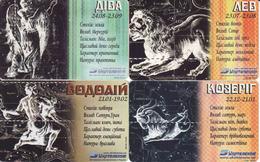Horoscope - Zodiac, Ukraine 4 Pieces - Zodiaco