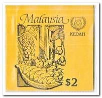 Kedah 1987, Postfris MNH, Trees ( Booklet, Carnet ) - Maleisië (1964-...)