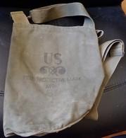 ARMEE AMERICAINE U.S : ETUI POUR MASQUE A GAZ  DE L'ARMEE AMERICAINE , FIELD PROTECTIVE MASK M9A1,DANS SON JUS A NETTOYE - Equipement
