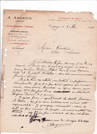 11-J.Argence..Etablissement Thermal...Limonade Champagnisée, Eau,   Campagne-les-Bains...(Aude)...1912 - France