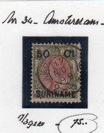 17 NOV 99 Kleinrond AMSTERDAM Op Opdrukzegel  (VERVALSING!!!!!) - Suriname ... - 1975