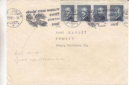 Tchècoslovaquie - Lettre De 1947 ? - Oblit Praha - Exp Vers Trebic - Tschechoslowakei/CSSR
