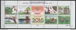 Pakistan (2016) - MS -  /  Children Drawings - Train - Butterflies - Papillons - Birds - Oiseaux - Butterflies