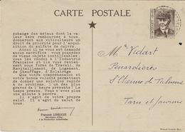 1941- C P  Faux E P Pétain Relatif à La Pénurie Des Métaux  - VOYAGEE  Ed. Giraud-Rivoire - Guerra De 1939-45