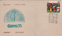 India 1975  Birds Crane Cancellation GUJPEX Special Cover # 71018 Inde India Indien - Grues Et Gruiformes