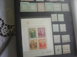 Stamps From Spania, Tip Pro Municipio, Beneficencia And Block Foyer Du Francais Antifasciste - Vignetten Van De Burgeroorlog