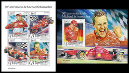 MOZAMBIQUE 2019 - Michael Schumacher. M/S + S/S. Official Issue - Mozambique