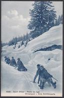 CPA  Suisse, Sport D'hiver, Partie De Luge, Wintersport - Eine Schlittenpartie - Svizzera