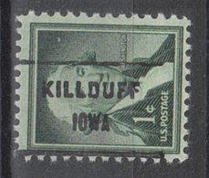 USA Precancel Vorausentwertung Preo, Locals Iowa, Killduff 718 - Vereinigte Staaten