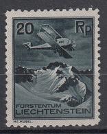 LIECHTENSTEIN - Michel - 1930 - Nr 109 - MH* - Poste Aérienne