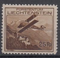 LIECHTENSTEIN - Michel - 1930 - Nr 110 - MH* - Poste Aérienne