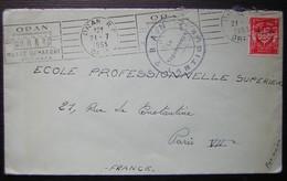 Oran 1955 Cachet Militaire B.A.N Lartigue - Algeria (1924-1962)