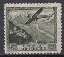 LIECHTENSTEIN - Michel - 1930 - Nr 112 - MH* - Poste Aérienne