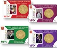 2017 -  VATICANO - STAMP&COIN CARD 2017 - Vaticano