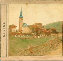 Suisse Valais * Biel, Vallée Du Rhône - Photo Stéréoscopique A. Bertrand Vers 1858 - Voir Scans - Stereoscopio