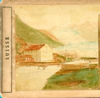 Suisse Valais Glestch * Source, Glacier Du Rhône - Photo Stéréoscopique A. Bertrand Vers 1858 - Voir Scans - Stereoscopio