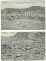 Lot De 4 CPA Martinique St Saint Pierre Thème ERUPTION DE LA MONTAGNE PELEE (volcan Catastrophe) - Other