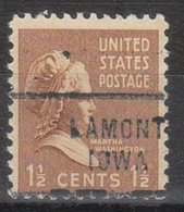 USA Precancel Vorausentwertung Preo, Locals Iowa, Lamont 712 - Vereinigte Staaten