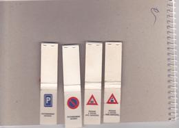 4 Pochettes Avec Illustrations Code De La Route - Boites D'allumettes