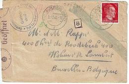 """Lettre """"Charles Rappé - Gemeinschaftslager"""" De LAUTERBERG (27-12-43) à WOLUWE-ST-LAMBERT + Censures Diverses - Allemagne"""