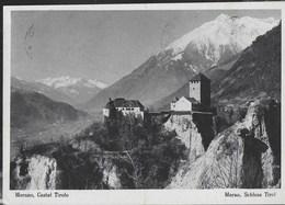 CASTEL TIROLO - SCHLOSS TIROL - MERANO - EDIZ. LEO BAEHRENDT MERANO - VIAGGIATA 1955 - Castelli