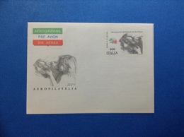1985 ITALIA AEROGRAMMA POSTALE NUOVO NEW MNH** ESPOSIZIONE MONDIALE AEROFILATELIA 600 LIRE - Entiers Postaux