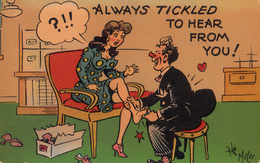 Comics Humor Comic Comique Humour - Always Tickled To Hear From A Sexy Lady - Feet Shoes - 2 Scans - Humour