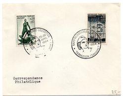 DORDOGNE - Dépt N° 24 = TERRASSON 1964 =  CACHET Illustré + 2 Timbres CONCORDANTS = EXPO RESISTANCE LIBERATION - Marcophilie (Lettres)