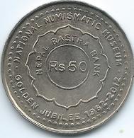 Nepal - Republic - VS2069 (2012 -२०६९)- 50 Rupees - Golden Jubilee Of National Numismatic Museum - KM1208 - Nepal