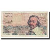 France, 1000 Francs, Richelieu, 1956, 1956-10-04, TB, Fayette:42.25, KM:134a - 1955-1959 Sovraccarichi In Nuovi Franchi