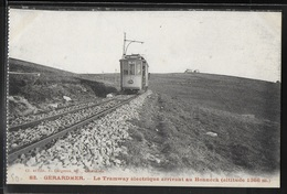 CPA 88 - Gérardmer, Le Tramway électrique Arrivant Au Honneck - Gerardmer