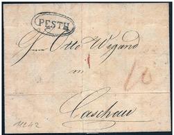Ungheria/Hongrie/Hungary: 1827 - Bollo Di Pesth, Timbre Of Pesth, Cachet De Pesth - Ungheria