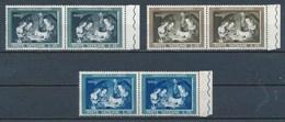 Vatican Mi. 357 - 359 Paar Re. Rand Postfr. Weihnachten 1960 - Ungebraucht