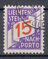 LIECHTENSTEIN - Michel - 1928 - Nr 15 - Gest/Obl/Us - Taxe