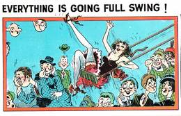 Comics Humor Comic Comique Humour - Everything Going Full Swing With The Sexy Lady - Written 1935 - 2 Scans - Humour