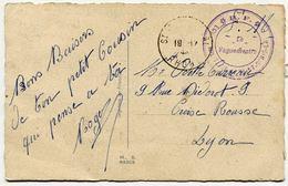 R. F. * ECOLE MILITAIRE DE ST-GENIS-LAVAL Le Vaguemestre  Du 19 Décembre 1944. Illustration Germaine Bouret - Marcophilie (Lettres)