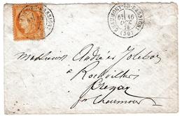 Lettre 1876 Chaumont En Bassigny Haute Marne Timbre Cérès 15 Centimes - 1871-1875 Ceres